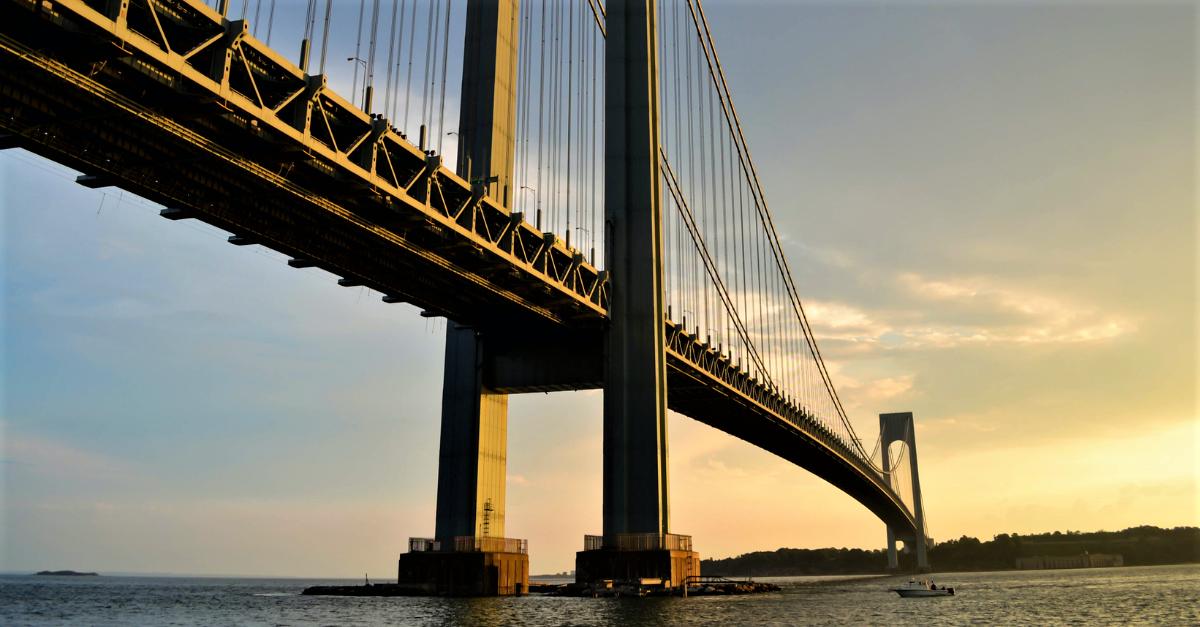 Bridge at sunset